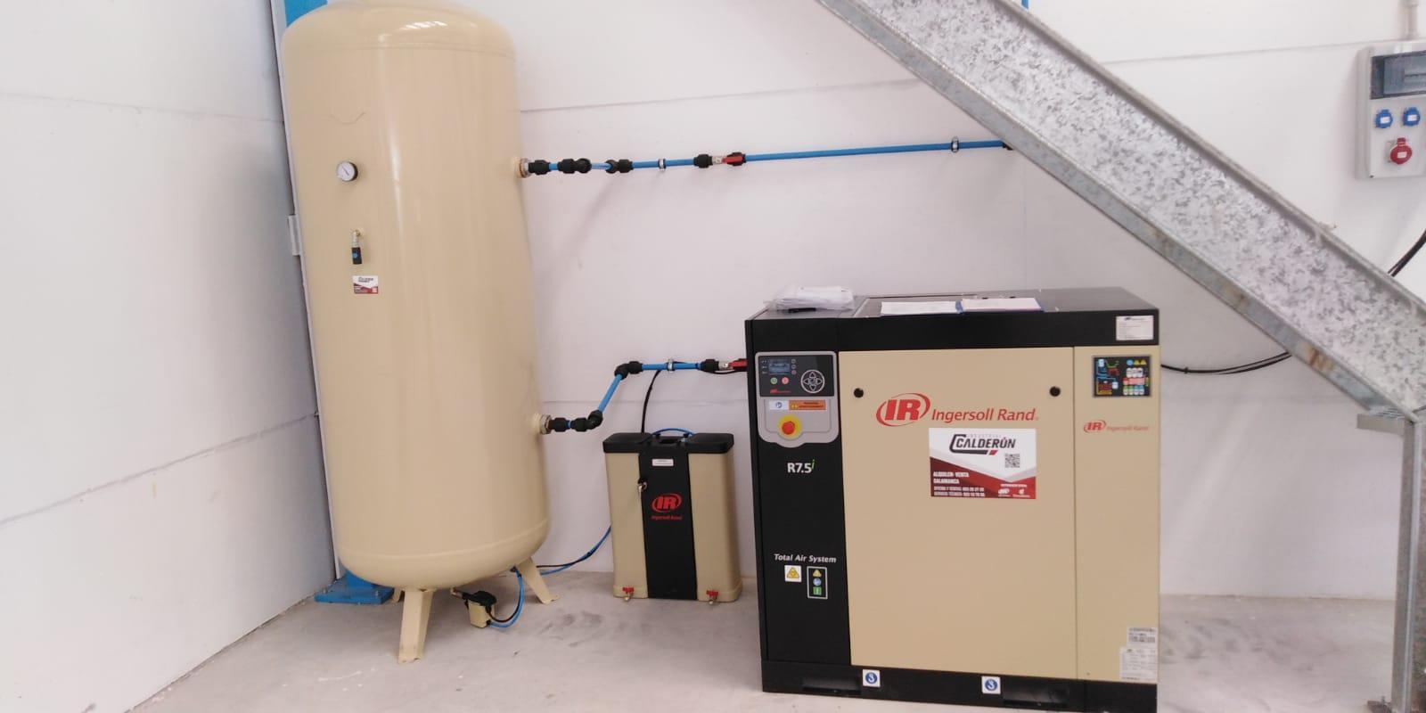 Puesta en marcha de una nueva instalación de aire comprimido en Piedrahíta