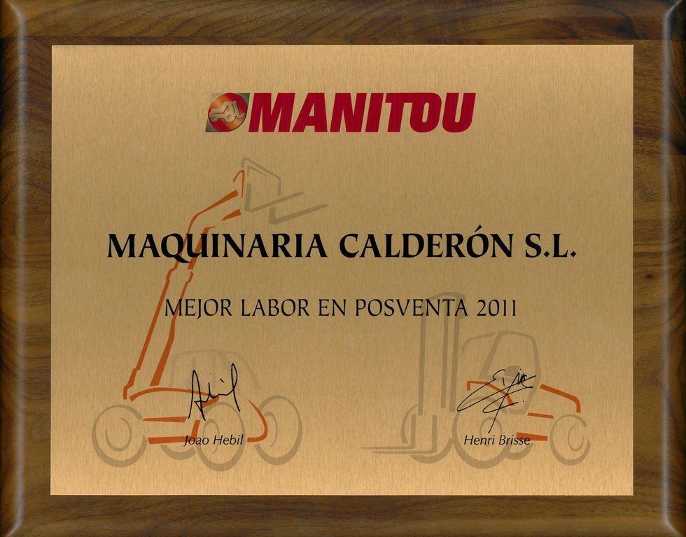 Premio Maquinaria Calderon